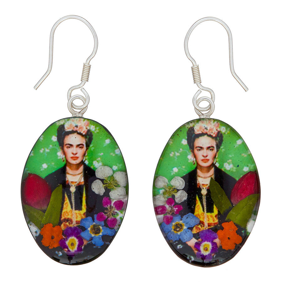 Frida Kahlo Mexican Flowers Earrings