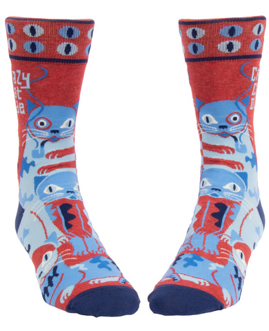 Crazy Cat Dude Men's Socks