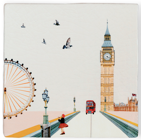 Eye Of London Ceramic Tile