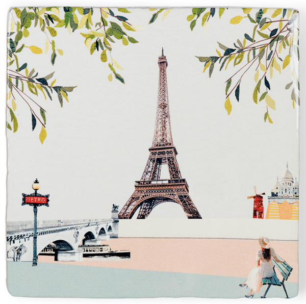 Paris I Love You Ceramic Tile