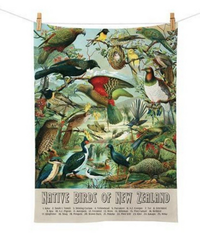 New Zealand Native Birds Tea Towel