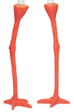 Long Legs Candle Holder - Orange