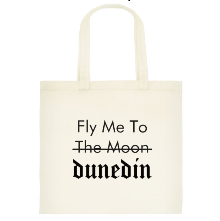 Fly Me To Dunedin Cotton Tote Bag