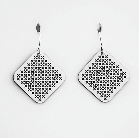 Matariki Square Earrings