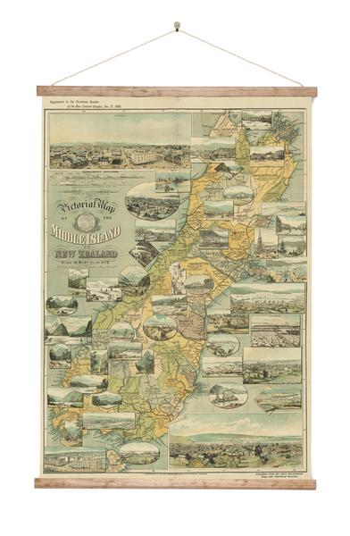 Pictorial South Island - Wall Chart - Design Withdrawals - Design Withdrawals