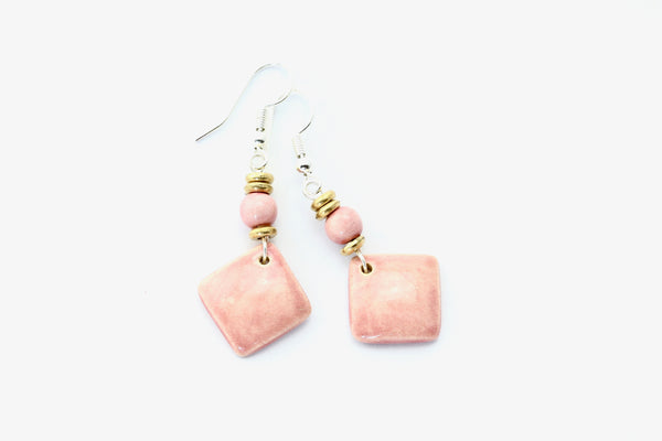 Square Drop Earrings by Claycult
