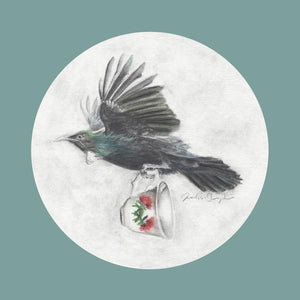 Tui and Teacup - Greeting Card - Melissa Sharplin - Design Withdrawals