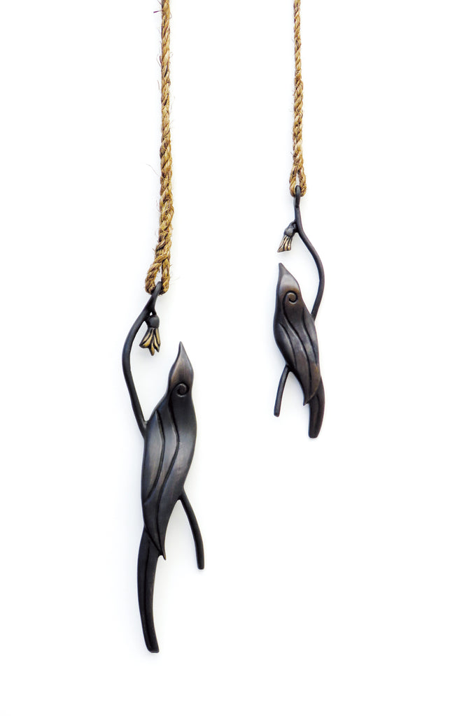 Tui with Kowhai - Koa Bronze - Design Withdrawals