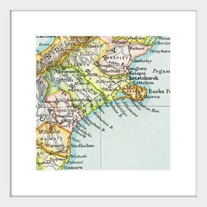 Canterbury - Vintage Map Print - Design Withdrawals - Design Withdrawals