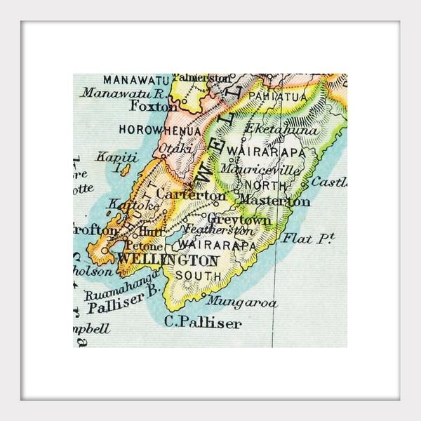 Wellington - Vintage Map Print - Design Withdrawals - Design Withdrawals