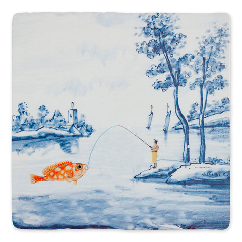Catching the Big Fish Ceramic Tile