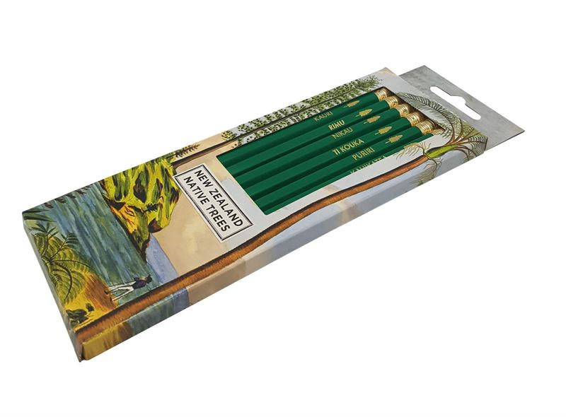 Wolfkamp & Stone - NZ Native Trees 6 Pkt - Pencils