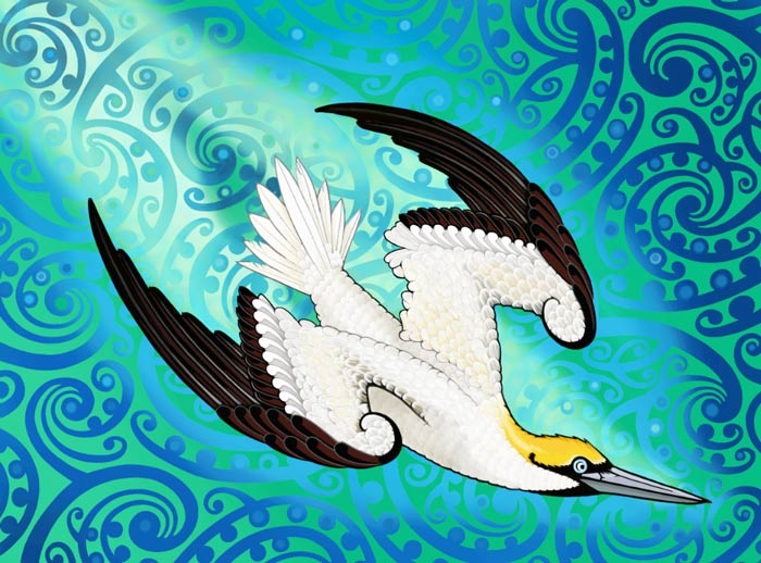 Ballistic Bird -Lester Hall - Ngati Pakeha Inks - Design Withdrawals