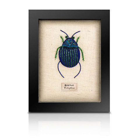 Beaded Fat Blue Beetle from the Cabinet of Curiosity