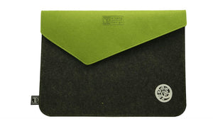 Ponga Grey & Green Ecofelt Laptop Bag