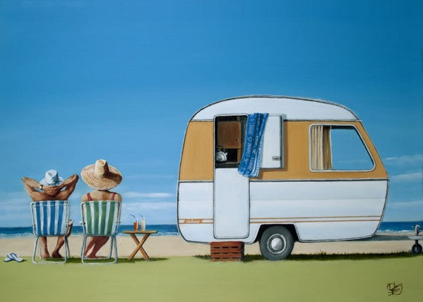 Caravan Bliss by Graham Young - Matted Art Print