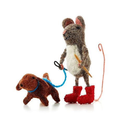 Dog Walking Mouse