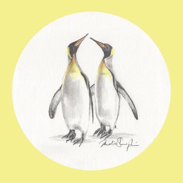 Emperor Penguins  - Greeting Card - Melissa Sharplin - Design Withdrawals
