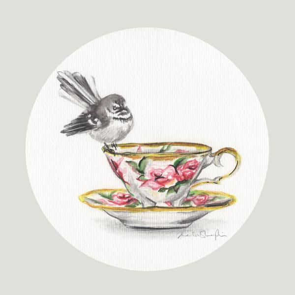 Rose Fantail - Art Print - Melissa Sharplin - Design Withdrawals