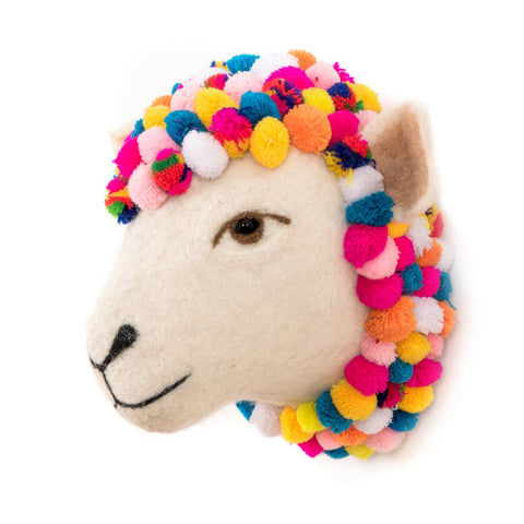 Jazzy Sheep Wall Head - Design Withdrawals - Design Withdrawals