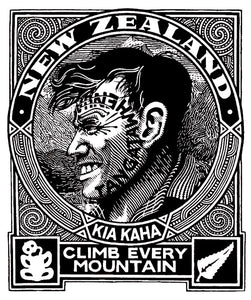 Climb Every Mountain -Lester Hall - Ngati Pakeha Inks - Design Withdrawals