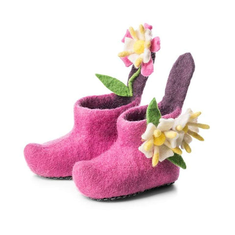 Honeysuckle Pink Children's Slippers
