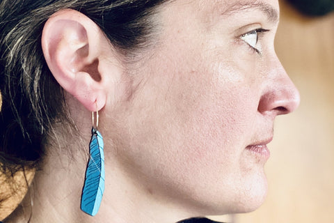Tui Feather Rimu Earrings
