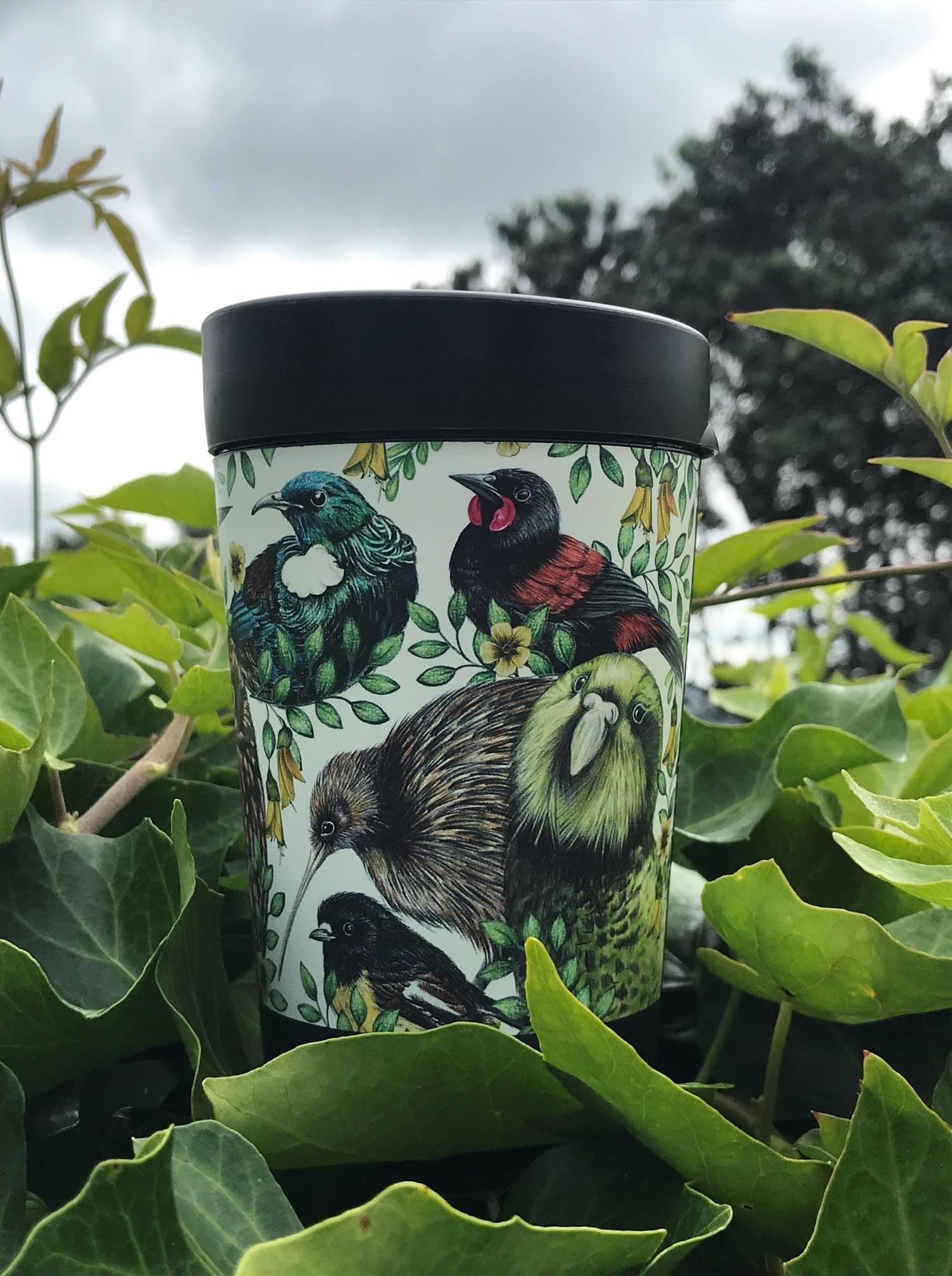CUPPA COFFEE CUP- Native Birds