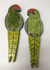 Ceramic Native Kakariki Bird