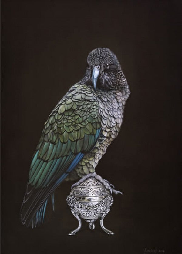 Kea On Vessel - Jane Crisp - Art Print + Matting - Jane Crisp - Design Withdrawals