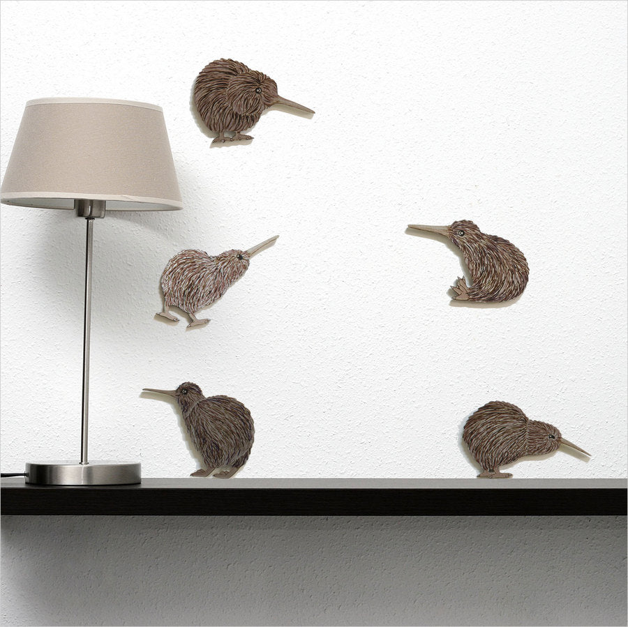 Kiwi Bird Wall Set