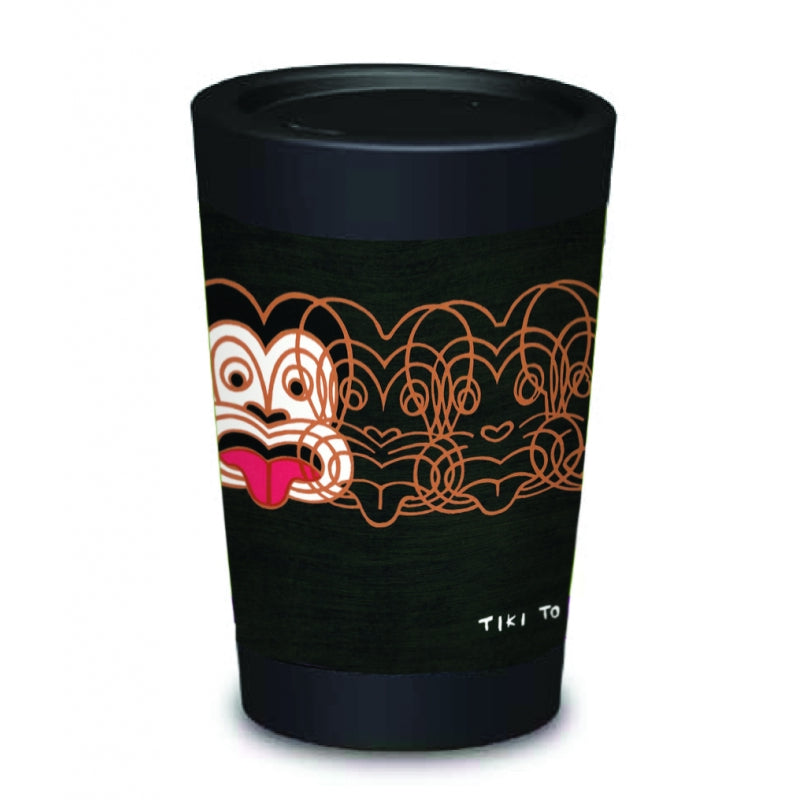 CUPPA COFFEE CUP- Mickey to Tiki BLACK