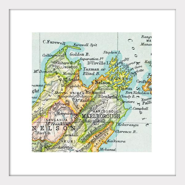 Nelson - Vintage Map Print - Design Withdrawals - Design Withdrawals