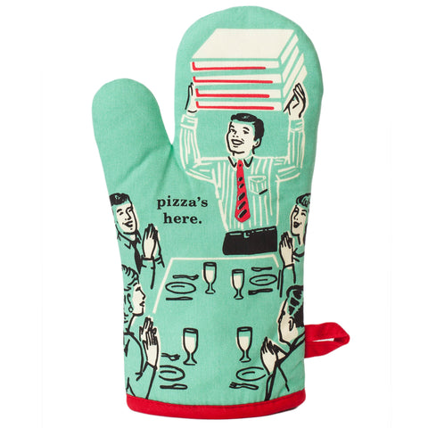Pizza's Here - Oven Mitt