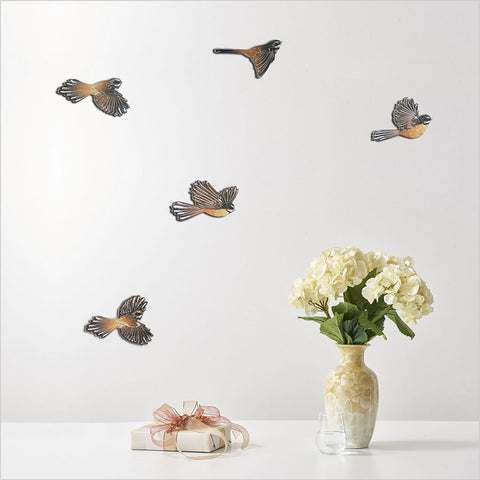 Fantail Bird Wall Set
