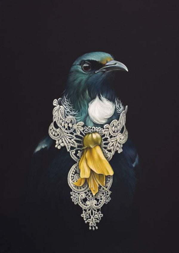 She Of The Kowhai Tree - Jane Crisp - Art Print + Matting - Jane Crisp - Design Withdrawals