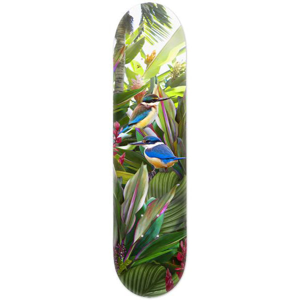 Lucy G Tropical NZ Kingfisher - Skate Deck - Design Withdrawals - Design Withdrawals