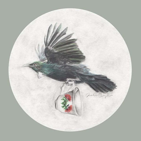 Tui and Teacup - Art Print