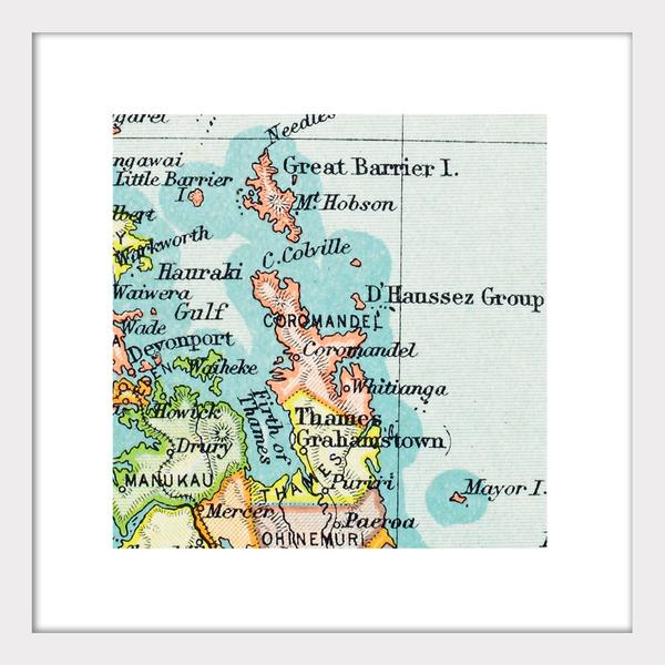 Coromandel - Vintage Map Print - Design Withdrawals - Design Withdrawals