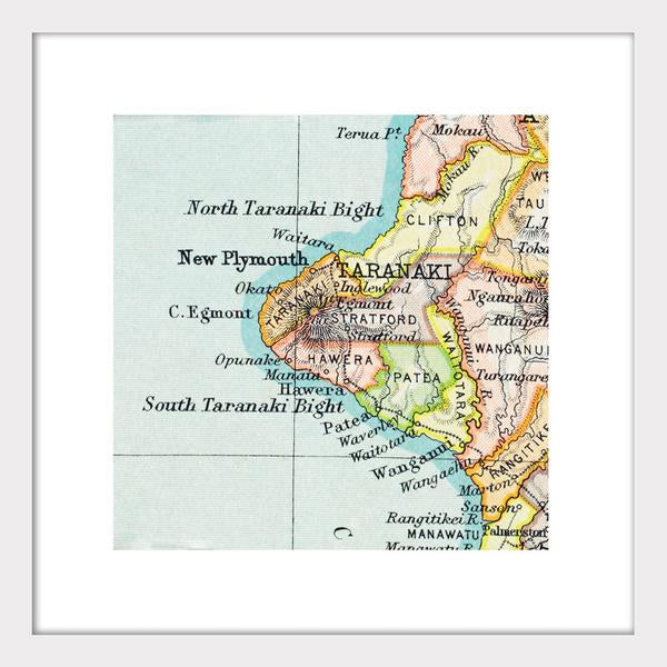 Taranaki - Vintage Map Print - Design Withdrawals - Design Withdrawals
