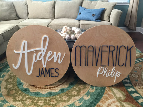 Nursery Name Sign for a Baby Boy