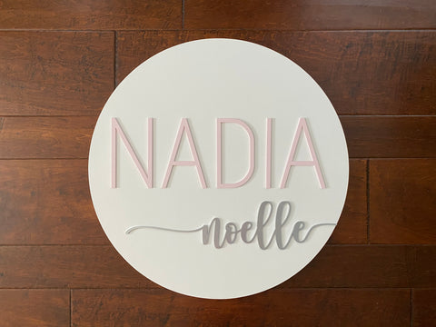 Nursery Name Sign Baby Girl