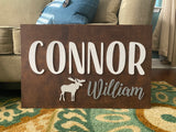 Wood Name Sign for Nursery