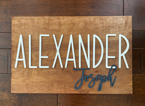 Baby Name Sign for Nursery
