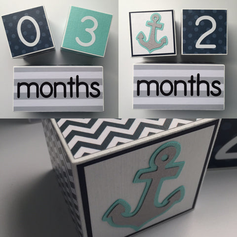 Baby Age Blocks - Monthly Baby Blocks