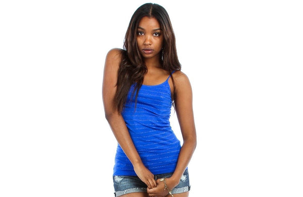 Las Estrellas Glitter Striped Tank Top {multiple colorways}