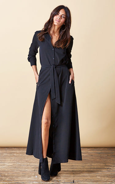 Vantage Point Maxi Shirt Dress {2 colorways}