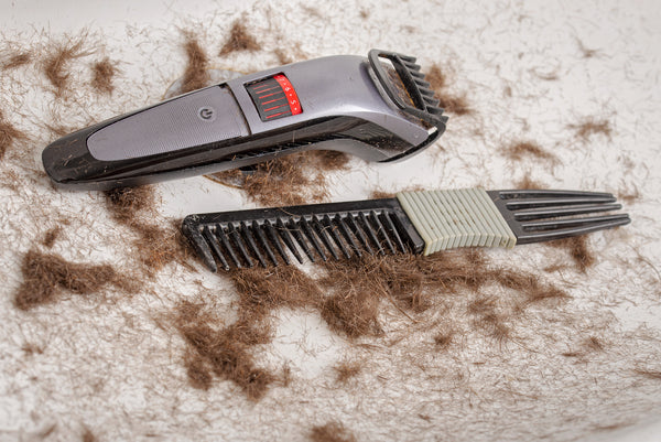 clogged beard trimming tools