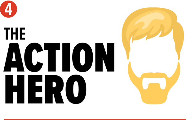 the action hero chuck norris style beard graphuc