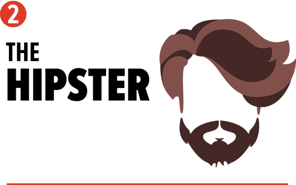 hipster cool beard style graphic